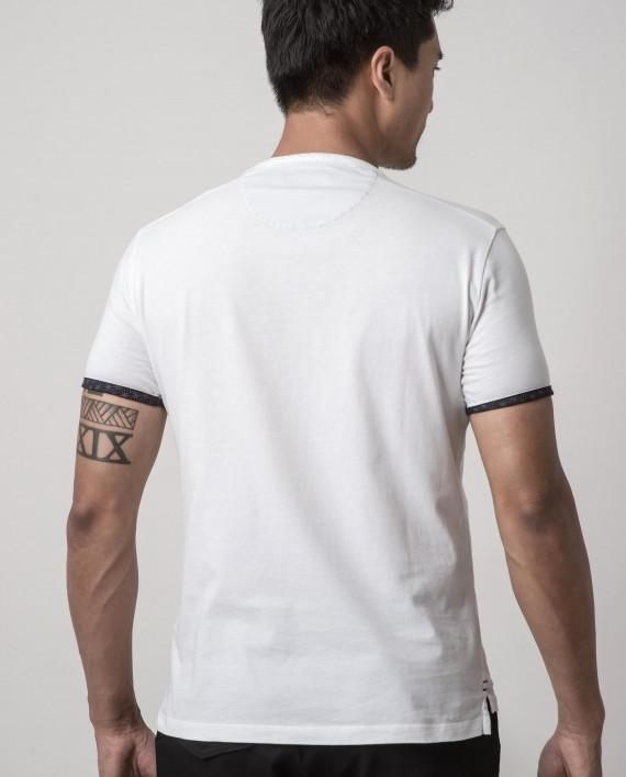 Asanoha White Dappergami Plain Tee ATSS1513 - Men's T-shirts - Cut & Paste - Naiise