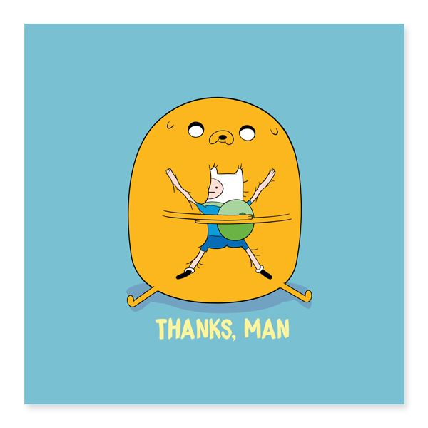 AT - Thanks, Man - Thank You Cards - Glisterz - Naiise