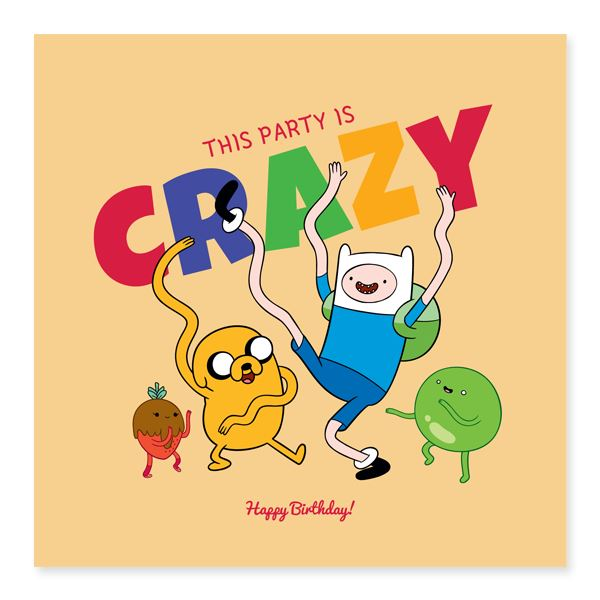 AT - This Party Is Crazy - Birthday Cards - Glisterz - Naiise