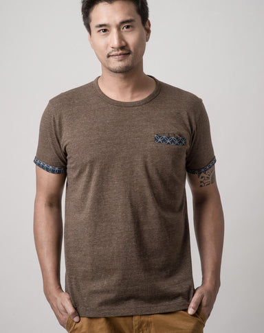 ATSS1516 Double Woven Pocket Tee Speckled Brown - Men's T-shirts - Cut & Paste - Naiise