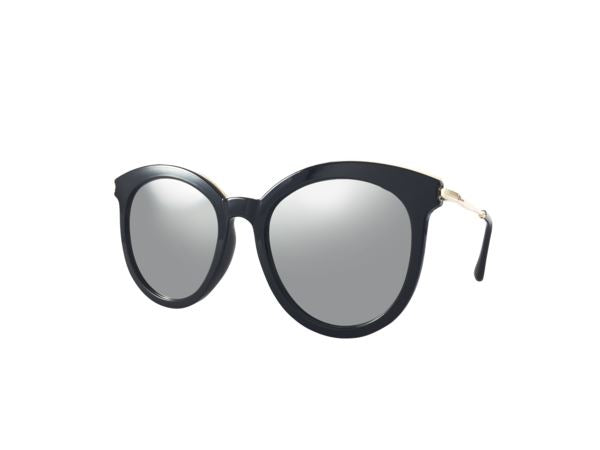 Aubrey Sunglasses - Black Frame/Silver Lenses - Sunglasses - Medium Rare - Naiise