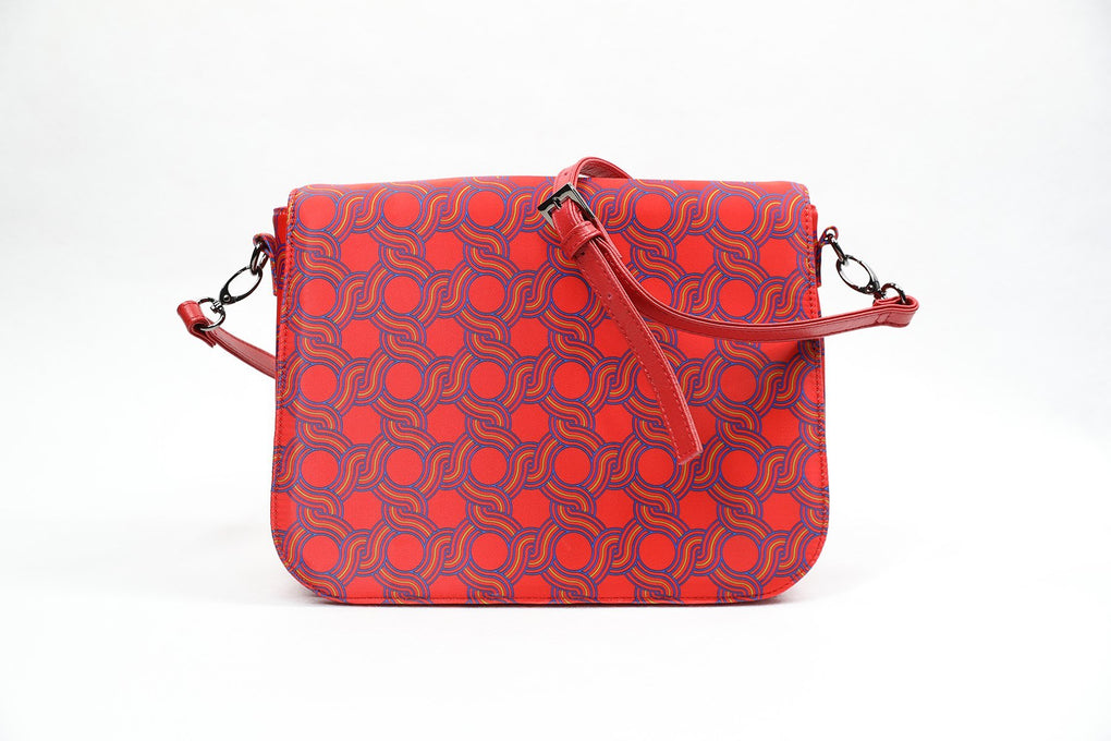 Auspicious 8 Satchel Sling Bag - Red Handbags Shevron