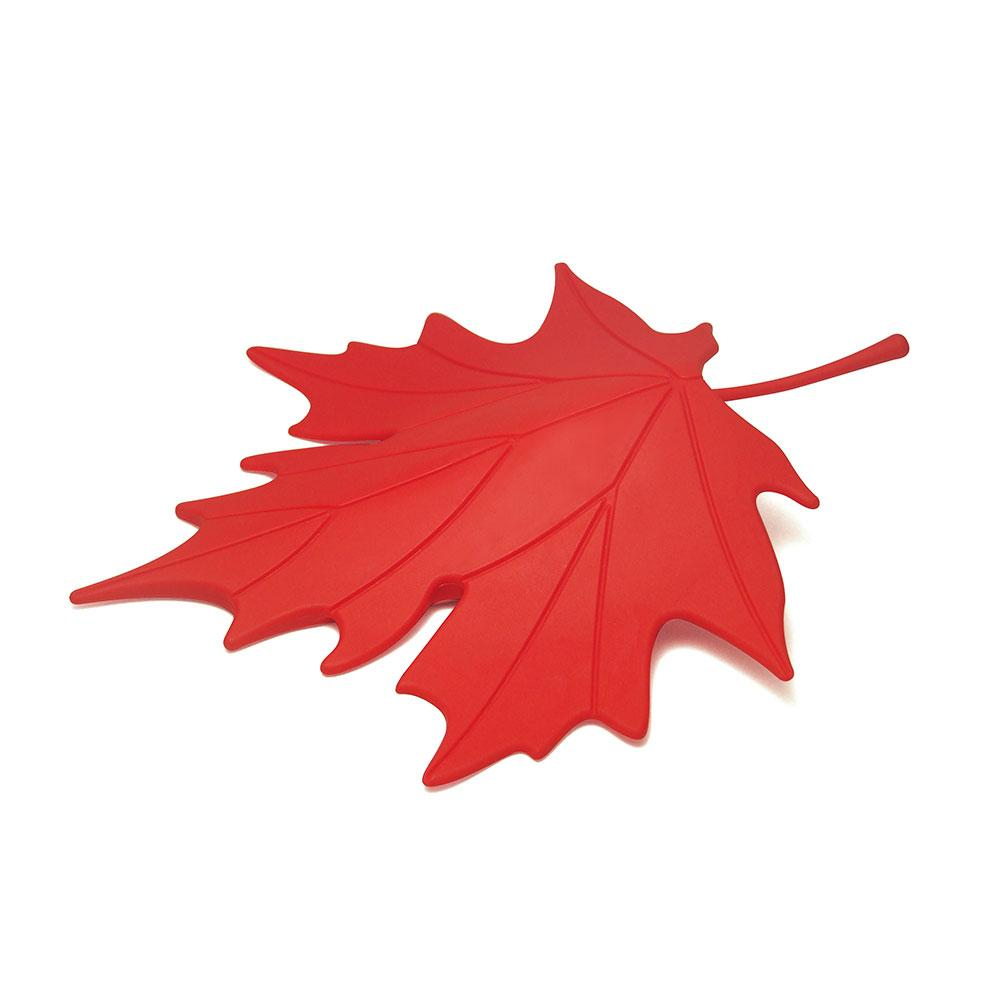 Autumn Leaf Door Stopper Home Decor Qualy Red