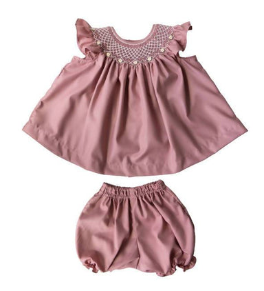 Brie Heirloom Smocked Bishop Set - Kids Clothing - Little Happy Haus - Naiise