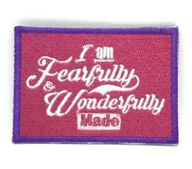 I am Fearfully & Wonderfully Made Verse-It Velcro Morale Patch - Sticker Patches - The Super Blessed - Naiise