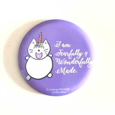 UniMaoMao I am Fearfully & Wonderfully Made Pocket Mirror - Mirrors - The Super Blessed - Naiise
