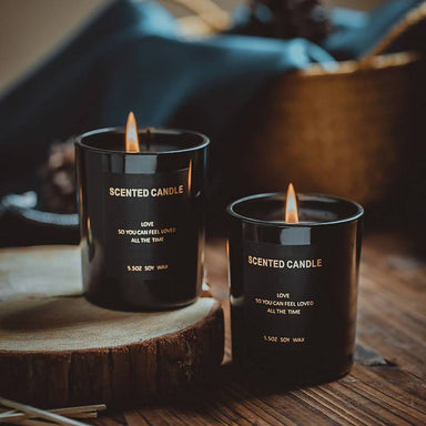 Nordic Elegance Black Aromatherapy Scented Candle - Scented Candles - After Organic - Naiise