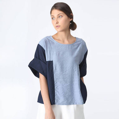 At Ease Oversized Contrast Colour Top - Women's Tops - Salient Label - Naiise