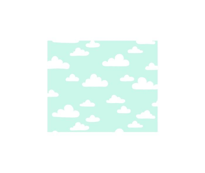 Baby Blue Clouds Wrapping Paper Wrapping Papers Fevrier Designs