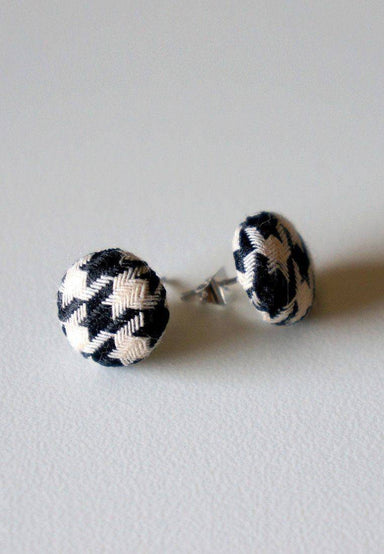Baby Houndstooth Stud Earrings - Earrings - Paperdaise Accessories - Naiise