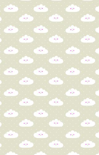 Baby Smiling Clouds Wrapping Paper Wrapping Papers Fevrier Designs