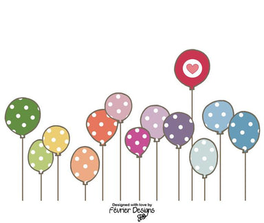 Balloon Stands Out Love Card Love Cards Fevrier Designs