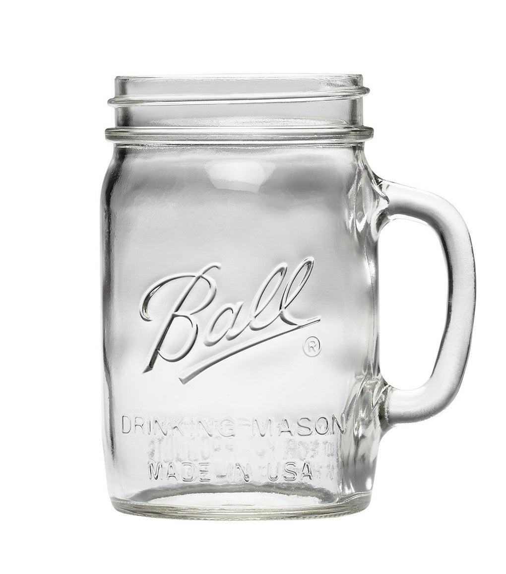Ball® 24oz Drinking Handle Mason Jar Food Containers Ball