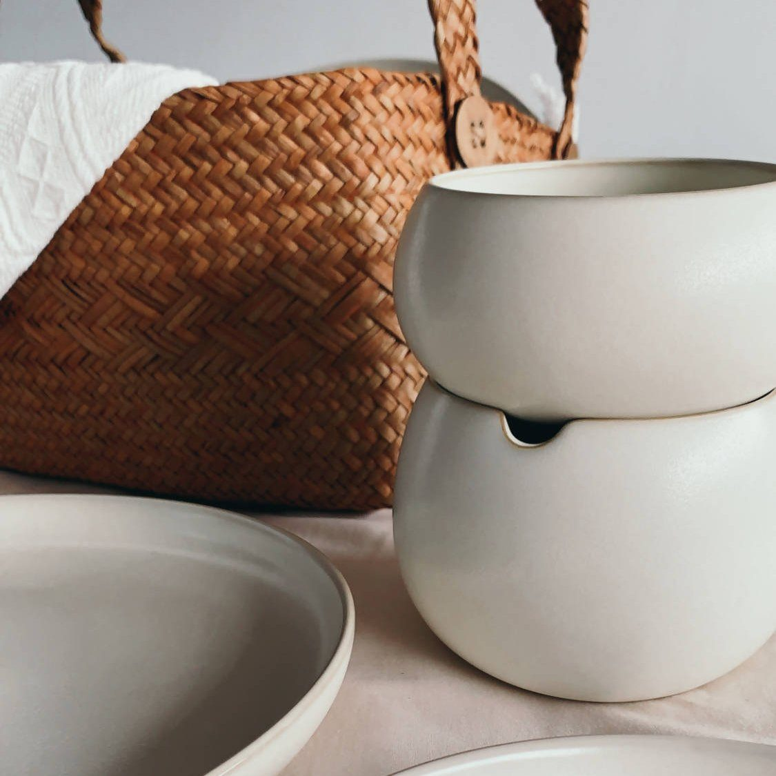 Base II Double Bowl Bundle - Tableware - Base Piece Homeware - Naiise