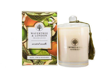 Basil, Lime, & Mandarin Scented Candle - Scented Candles - Wavertree & London - Naiise