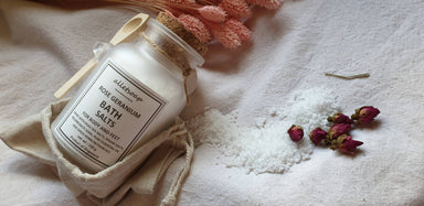 Bath Salts Rose Geranium (150g) Body Scrubs Alletsoap