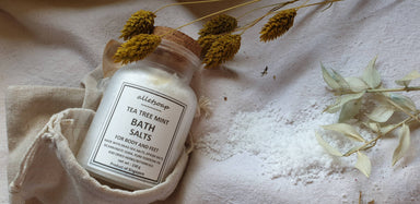 Bath Salts Teatree Mint (150g) - Body Scrubs - Alletsoap - Naiise
