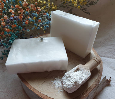 Bath Soap - Pearly Pure White (unscented) Soaps Alletsoap