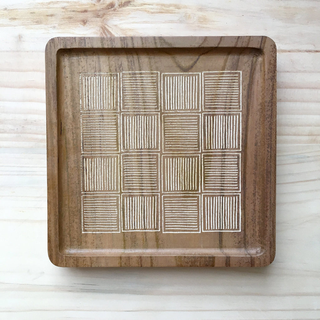 Batik Motif Teak Tray Trays JUNE