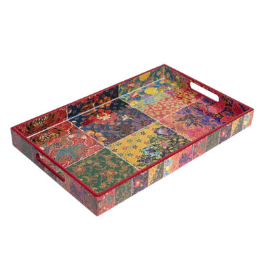 Batik Shiok Collection Rectangle Serving Tray Tableware Photo Phactory