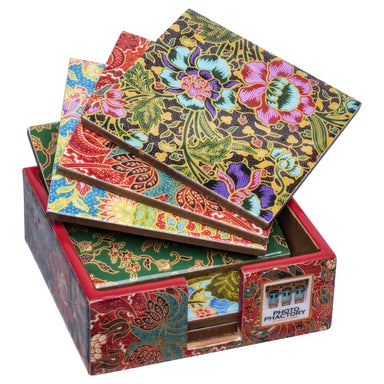 Batik Shiok collection set of Coasters Local Coasters Photo Phactory