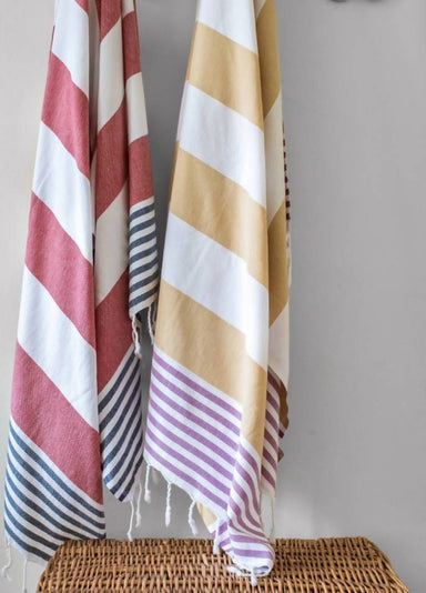 Bay Essential Towel Beach Towels Summer Moments Khaki Violet