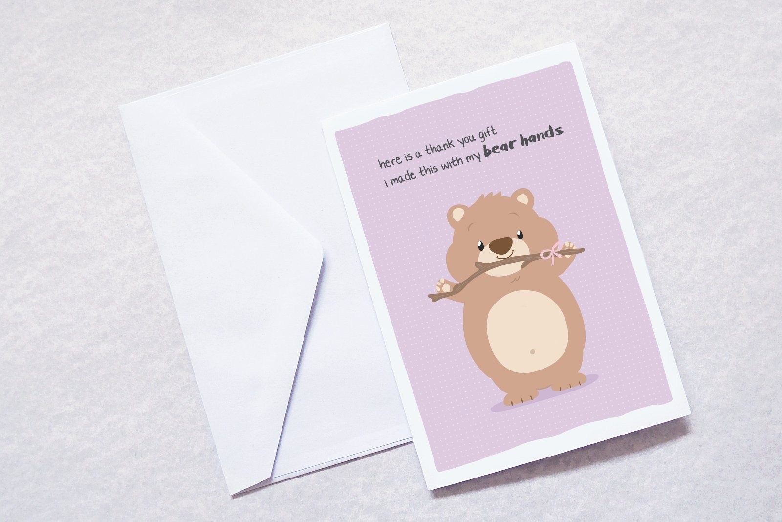Bear hands Generic Greeting Cards TispyTopsy