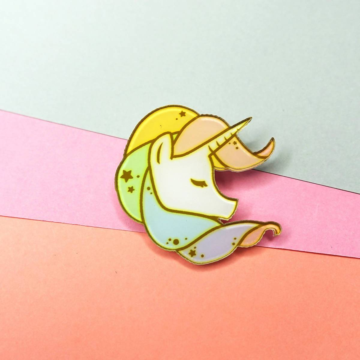 Beautiful Unicorn Pin Badge - Pins - Artably - Naiise