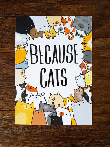 Because Cats Postcard - Postcards - Steak & Eggs Please - Naiise