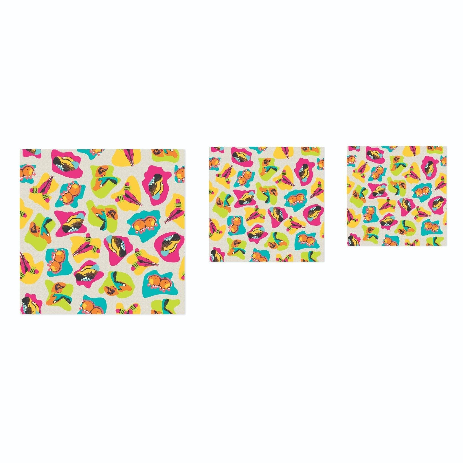 Beeswrap (Set of 3) - Colorful Prints Beeswax Wrap Creativeans