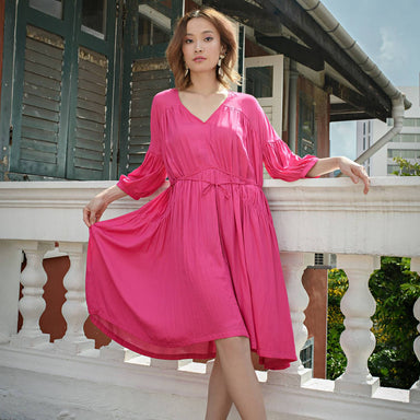 Bella Dress Pink - Dresses - Akosée - Naiise