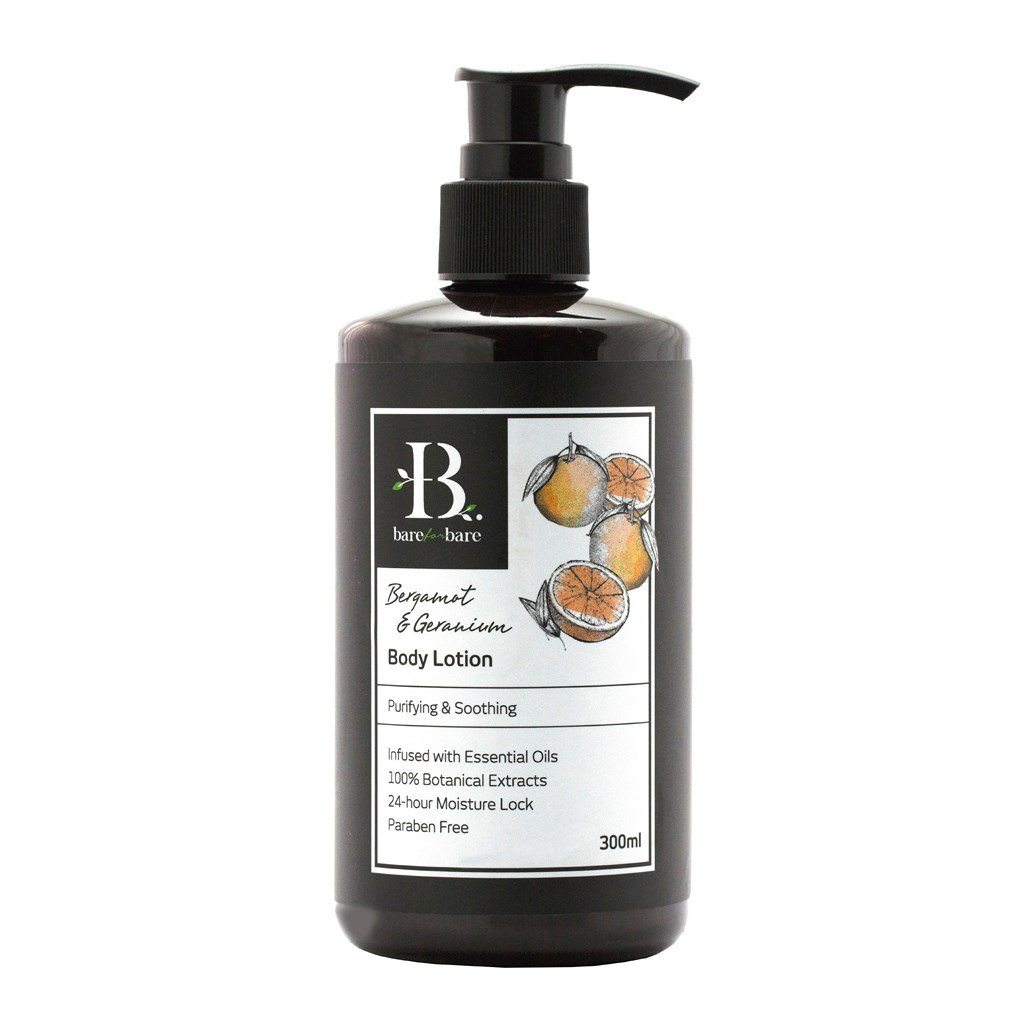 Bergamot & Geranium Body Lotion Body Lotions Bare for Bare 300ml