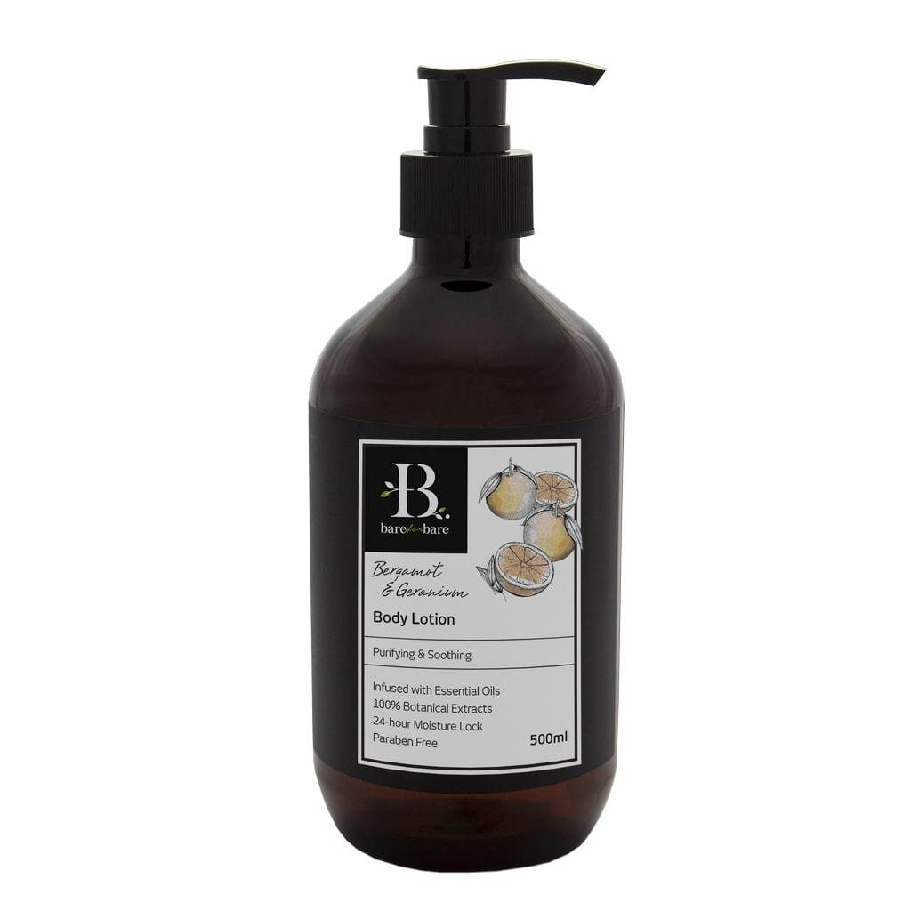 Bergamot & Geranium Body Lotion Body Lotions Bare for Bare 500ml
