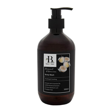 Bergamot & Geranium Body Wash Soaps Bare for Bare 500ml