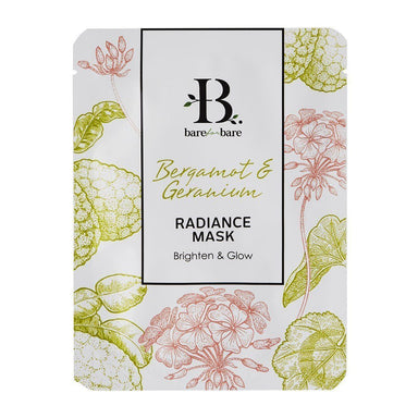 Bergamot & Geranium Radiance Face Mask (Single Piece) Face Masks Bare for Bare Single Piece