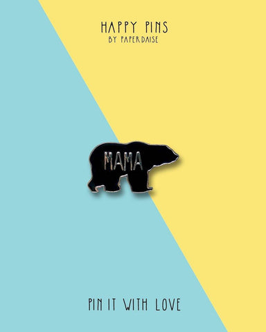Best Mama In The World Bear Enamel Pin - Pins - Paperdaise Accessories - Naiise