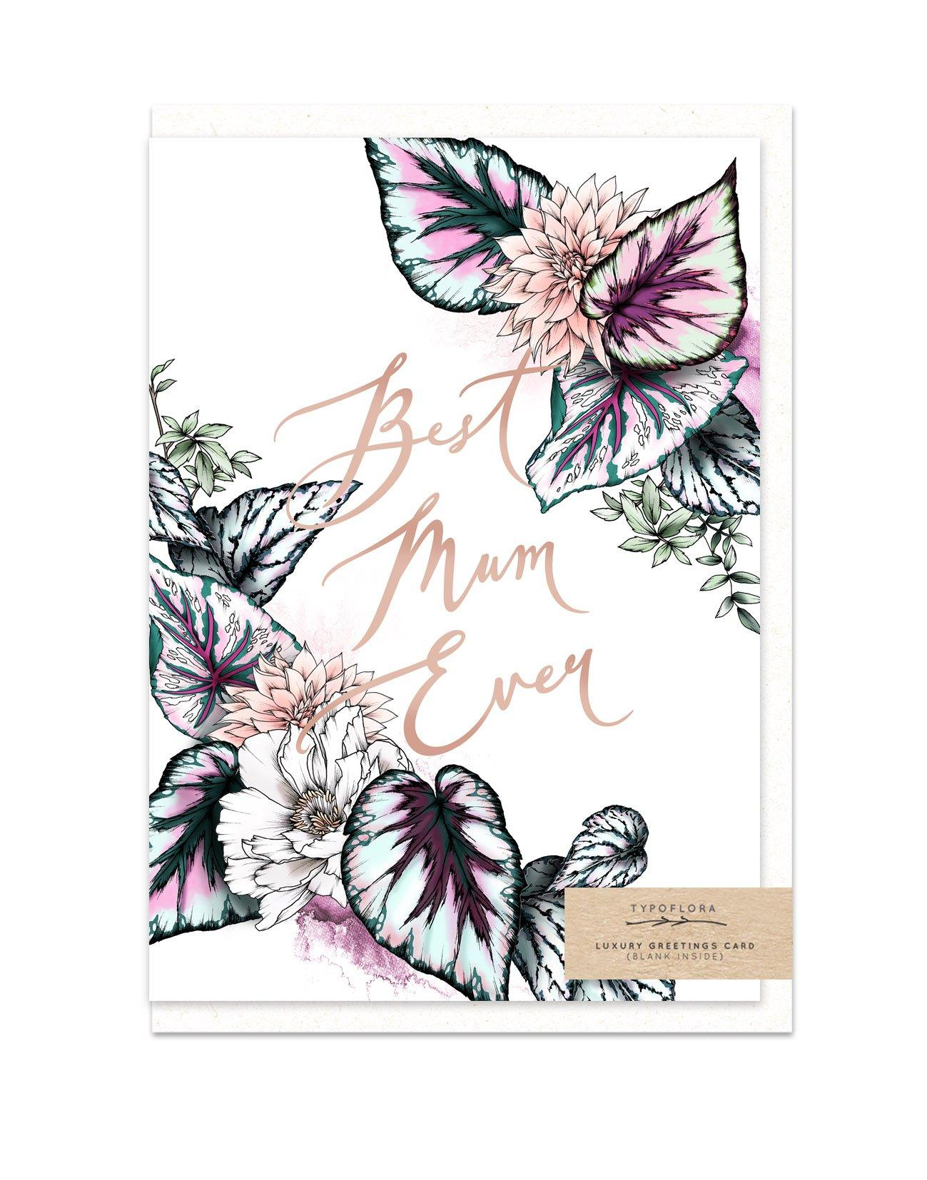 Best Mum Ever - Cards for Mothers - Typoflora - Naiise