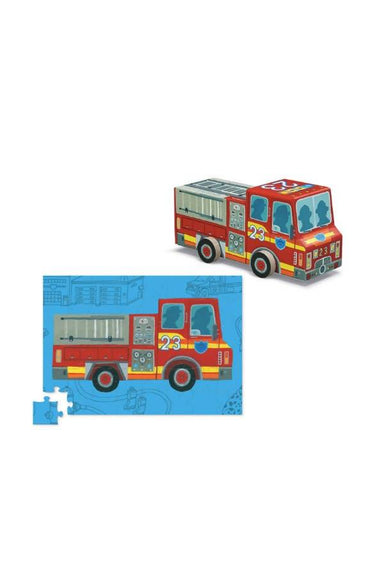 48-Pc Vehicle Puzzles Fire Truck - Kids Toys - The Children's Showcase - Naiise