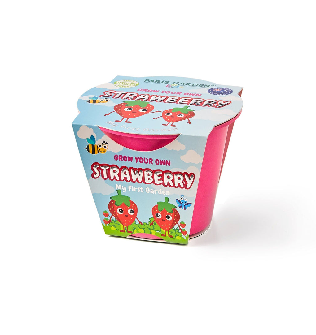 Bio Pots Kids - Strawberry Gardening Kits Paris Garden