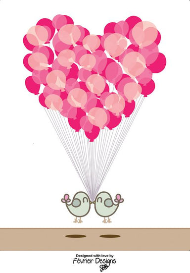 Bird Balloon Float Card - Generic Greeting Cards - Fevrier Designs - Naiise