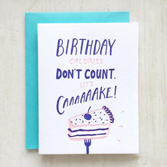Birthday Cake Greeting Card - Birthday Cards - The Fingersmith Letterpress - Naiise