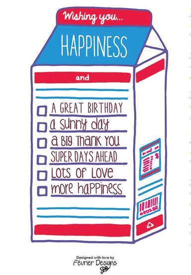 Birthday Milk Carton Card - Birthday Cards - Fevrier Designs - Naiise