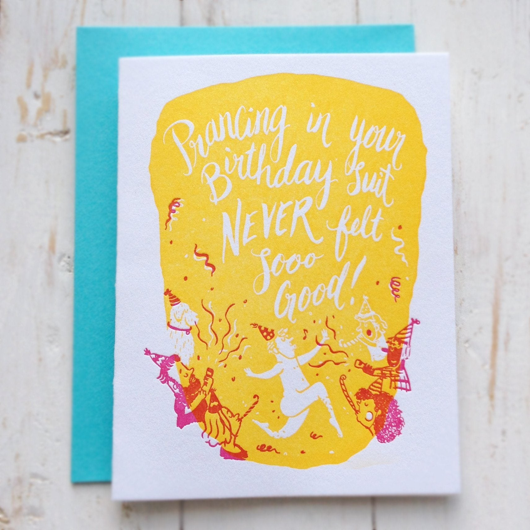 Birthday Suit Letterpress Card - Birthday Cards - The Fingersmith Letterpress - Naiise