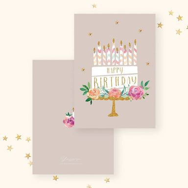 Birthday(Floral Cake) Card Birthday Cards YOUNIVERSE DESIGN
