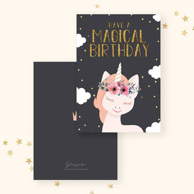 Birthday(Magical Unicorn) Card - Birthday Cards - YOUNIVERSE DESIGN - Naiise