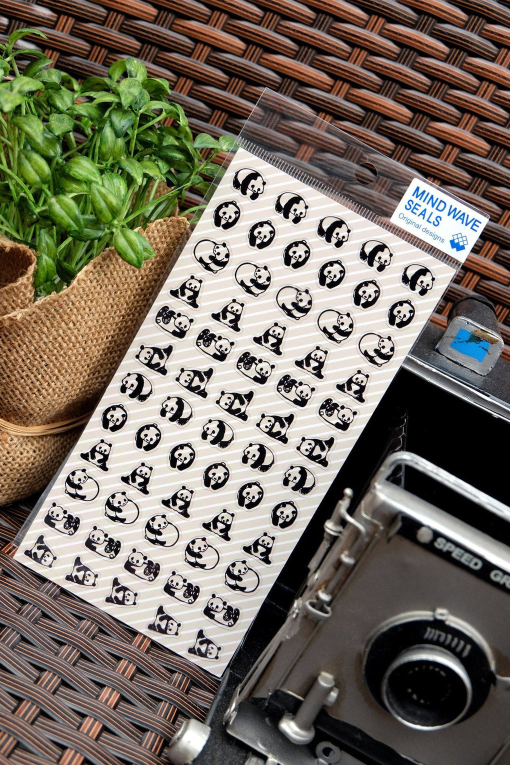 Black And White Panda Sticker- 77386 Stickers Mind Wave