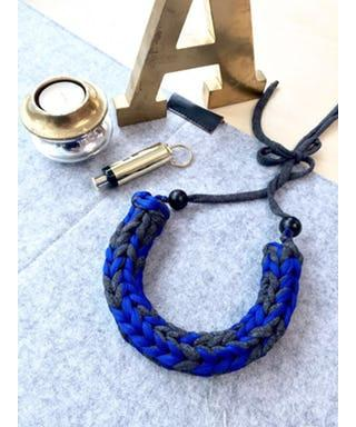 Black Pearl Series (Blue) Woven Necklace Necklaces Nanaknits