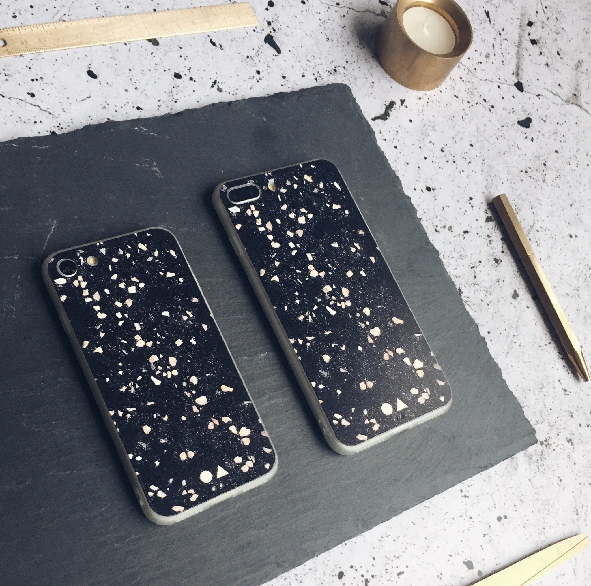 Black Terrazzo iPhone Case - iPhone 7/8 - Phone Cases - FormMaker - Naiise