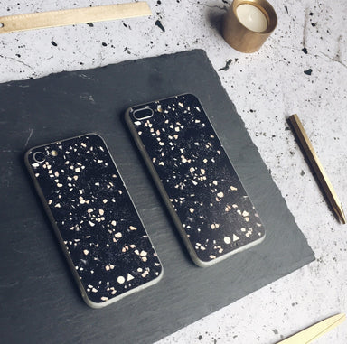 Black Terrazzo iPhone Case - iPhone 7/8 Plus - Phone Cases - FormMaker - Naiise