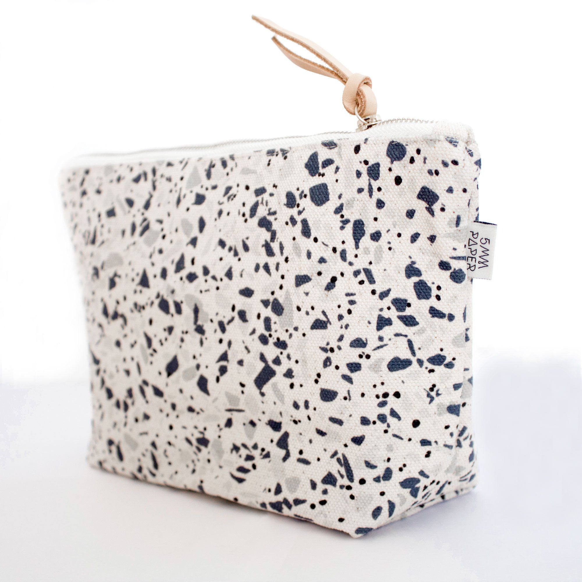 Blue Grey II Terrazzo Cosmetic Bag - Cosmetic Bags - 5mm Paper - Naiise